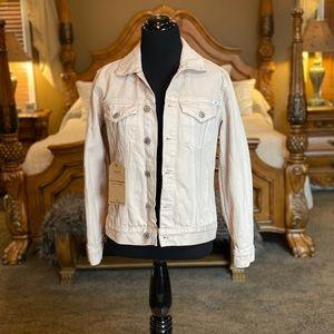 Lucky Brand Cream Tomboy Trucker Denim Jacket Sz S